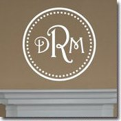 Wall Monogram Sticker