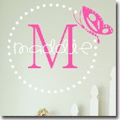 Wall Sticker Names Monograms