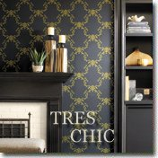 Tres Chic Wall Paper