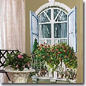 Window Mural Wall Stickers