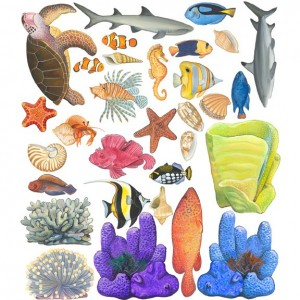 Underwater Tropical Fish Seacreature Wall Sticker