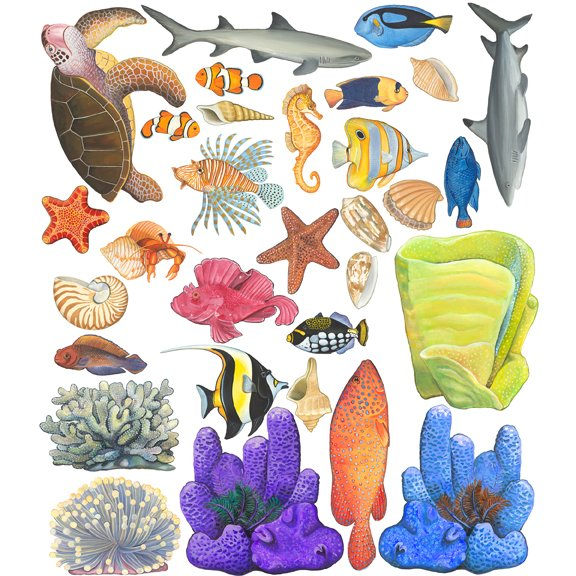 Awesome Underwater Tropical Fish Seacreature Wall Sticker