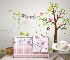 Vintage Birdie Tree with Custom Name