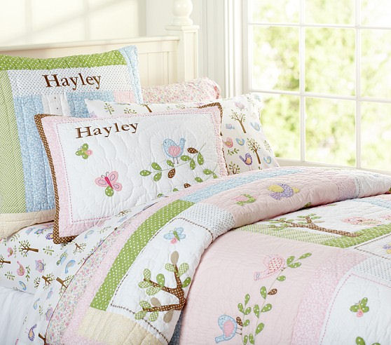 Pottery Barn Kids Haley Bedding Matching Decals Wall