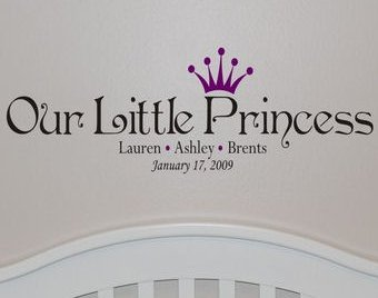 Stunning Baby Birth Announcement Decal