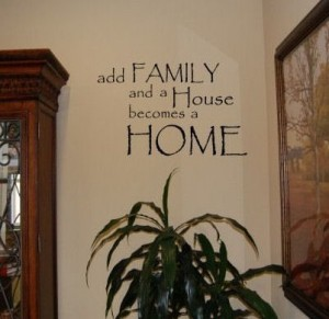 family home decal