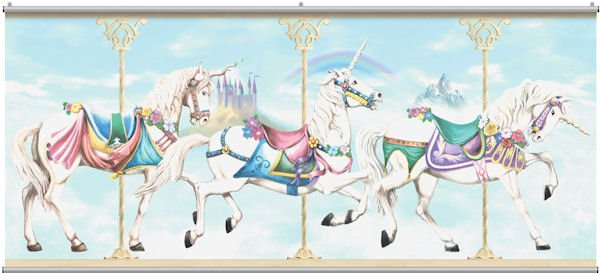 Best  carousel unicorn minute mural