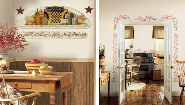 Popular  country kitchen stickers
