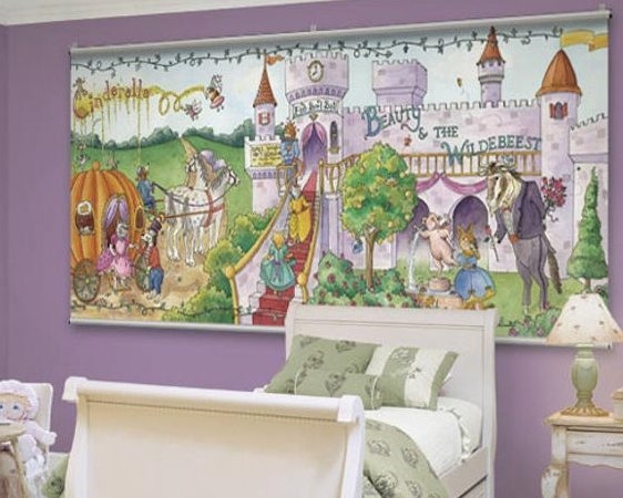 Decorating themes for little girls wall sticker outlet for Fairy tale mural