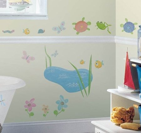 Lovely  hoppy pond decals