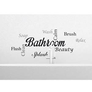 New Kitchen And Bathroom Wall Saying Decals Wall
