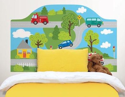 Fabulous around the town headboard sticker