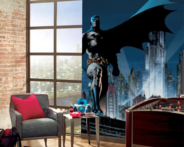 Elegant batman wall mural