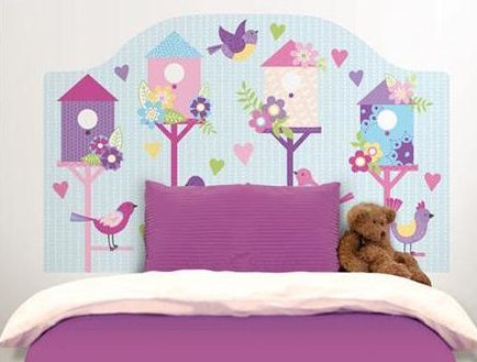 Perfect chirping bird headboard decal