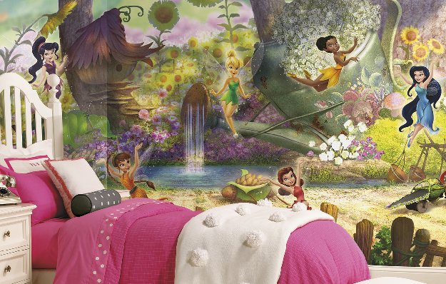 Girls wall murals by disney wall sticker outlet design blog for Fairy princess mural