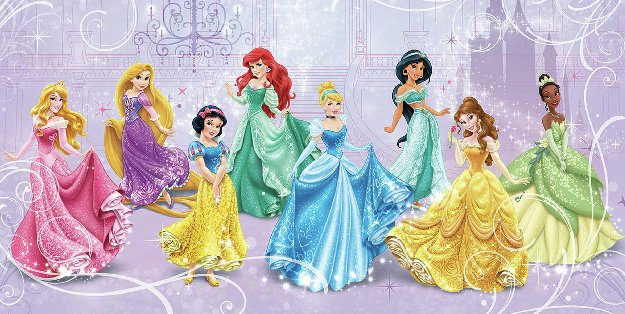 Disney wall sticker outlet design blog for Disney princess wallpaper mural