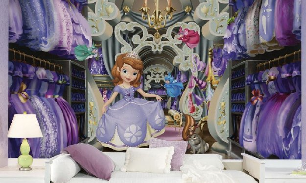 Theme room wall sticker outlet design blog for Disney princess ballroom mural