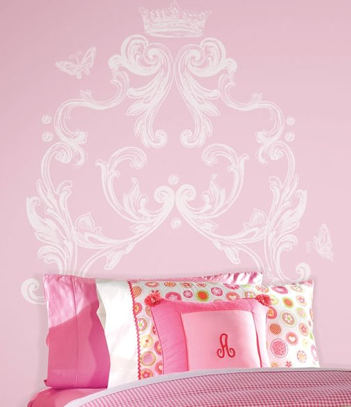 Good scroll headboard wall decal