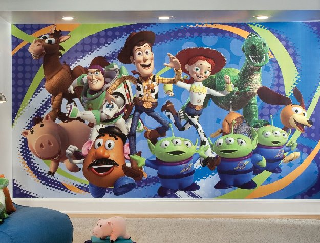 Superb toy story wall mural