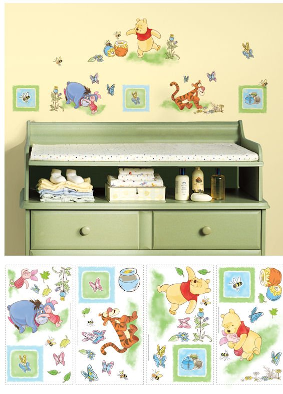 Winnie the pooh wall decals for nursery