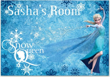 frozen-snow-queen-personalized-sticker