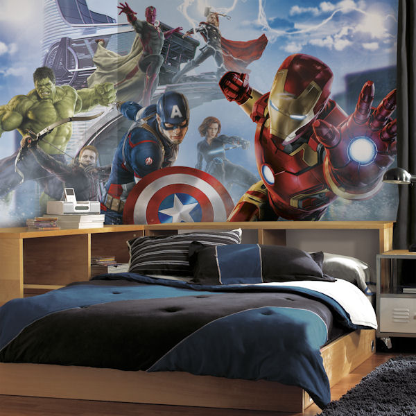Wall sticker outlet design blog welcome check out our for Avengers wallpaper mural